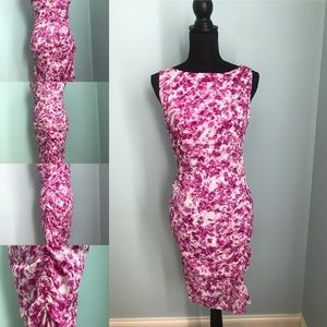 Pink and White Multi Color Dress